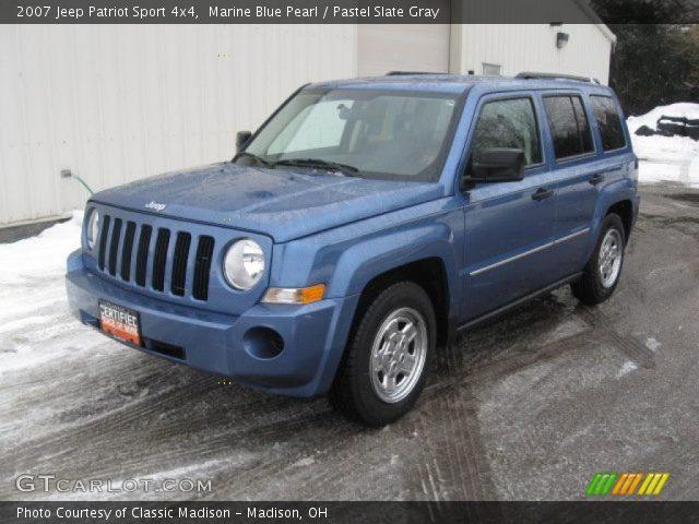 marine blue pearl 2007 jeep patriot sport 4x4 pastel. Black Bedroom Furniture Sets. Home Design Ideas