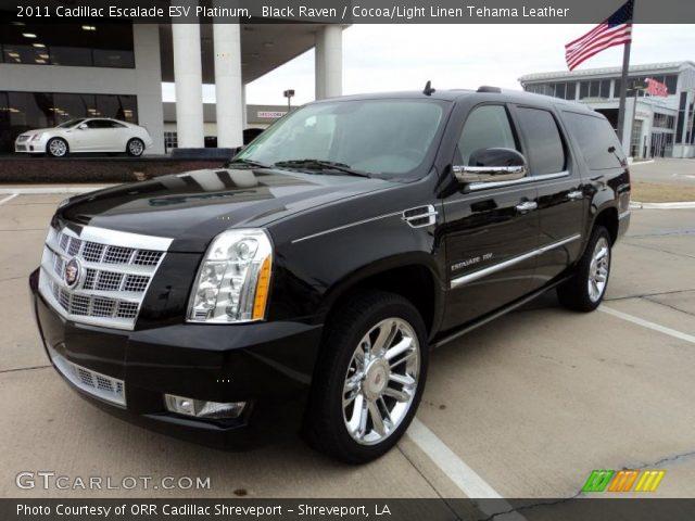 2011 Cadillac Escalade ESV Platinum in Black Raven