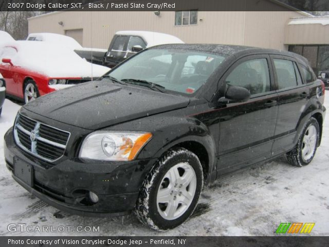 black 2007 dodge caliber sxt pastel slate gray red. Black Bedroom Furniture Sets. Home Design Ideas