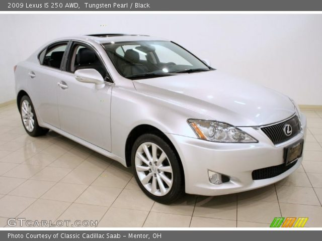 tungsten pearl 2009 lexus is 250 awd black interior vehicle archive 44805760. Black Bedroom Furniture Sets. Home Design Ideas
