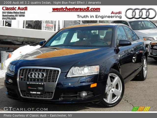 night blue pearl effect 2008 audi a6 3 2 quattro sedan amaretto interior. Black Bedroom Furniture Sets. Home Design Ideas
