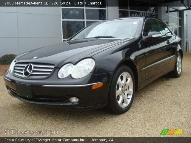 Black 2003 mercedes benz clk 320 coupe charcoal for 2003 mercedes benz clk 320