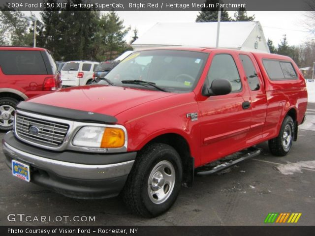 bright red 2004 ford f150 xlt heritage supercab. Black Bedroom Furniture Sets. Home Design Ideas