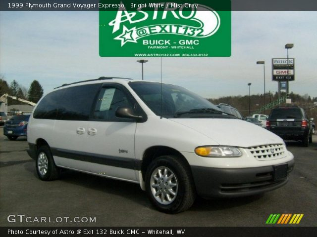 bright white 1999 plymouth grand voyager expresso mist gray interior gtcarlot com vehicle archive 44867298 gtcarlot com