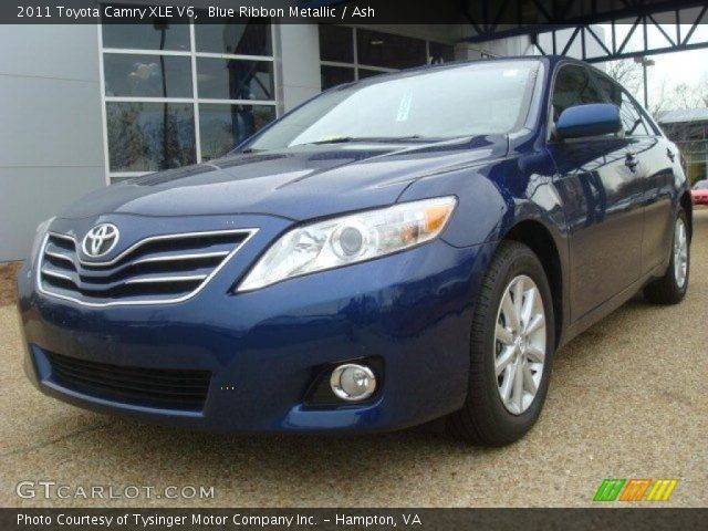 blue ribbon metallic 2011 toyota camry xle v6 ash. Black Bedroom Furniture Sets. Home Design Ideas