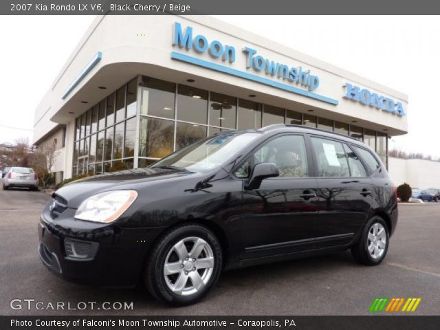 black cherry 2007 kia rondo lx v6 beige interior. Black Bedroom Furniture Sets. Home Design Ideas