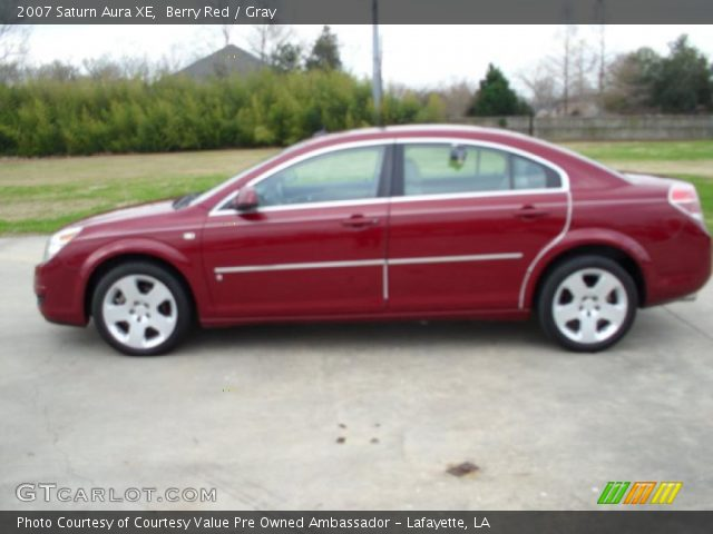 2007 Saturn Aura XE in Berry Red