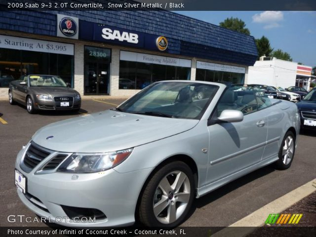 2009 Saab 9-3 2.0T Convertible in Snow Silver Metallic
