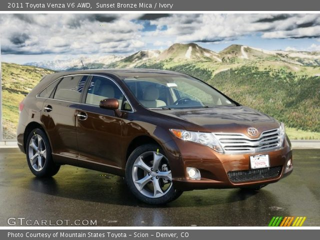 sunset bronze mica 2011 toyota venza v6 awd ivory. Black Bedroom Furniture Sets. Home Design Ideas