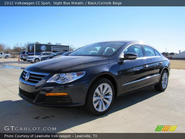 night blue metallic 2012 volkswagen cc sport black cornsilk beige interior. Black Bedroom Furniture Sets. Home Design Ideas