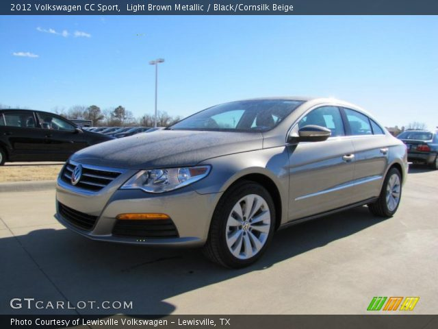 light brown metallic 2012 volkswagen cc sport black cornsilk beige interior. Black Bedroom Furniture Sets. Home Design Ideas