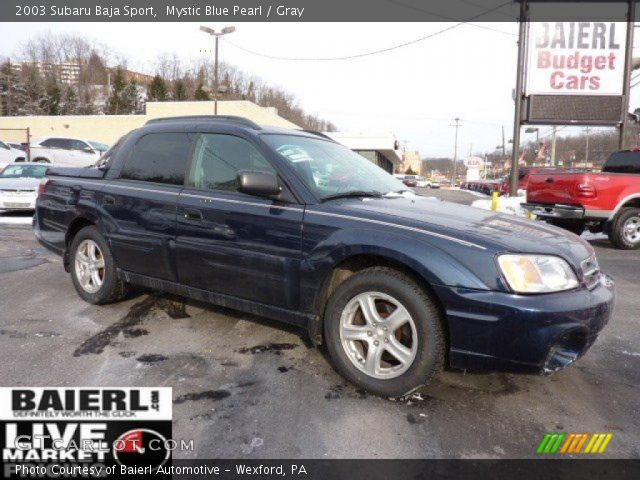 mystic blue pearl 2003 subaru baja sport gray interior. Black Bedroom Furniture Sets. Home Design Ideas