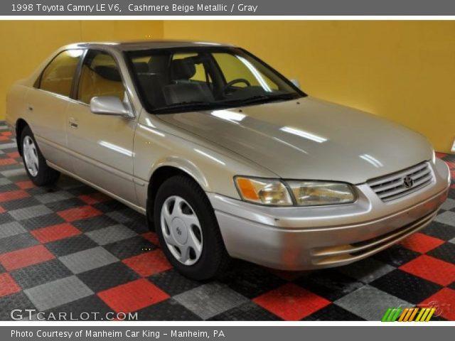 cashmere beige metallic 1998 toyota camry le v6 gray interior vehicle. Black Bedroom Furniture Sets. Home Design Ideas