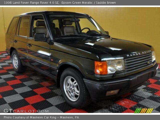 epsom green metallic 1998 land rover range rover 4 0 se saddle brown interior. Black Bedroom Furniture Sets. Home Design Ideas