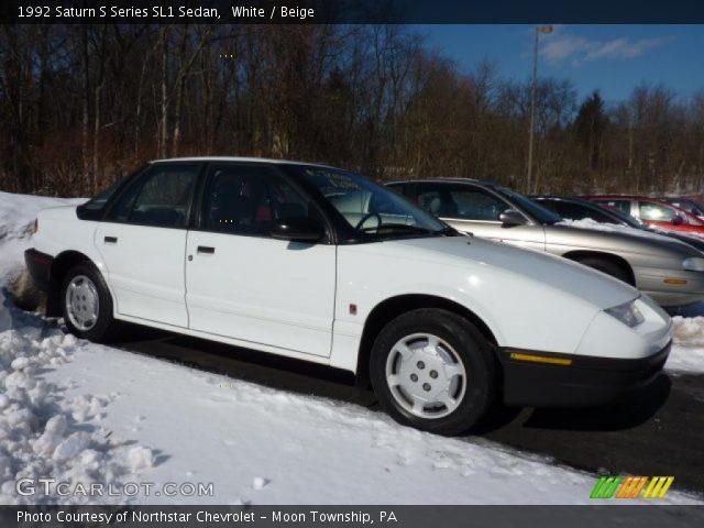 1992 Saturn S Series SL1 Sedan in White