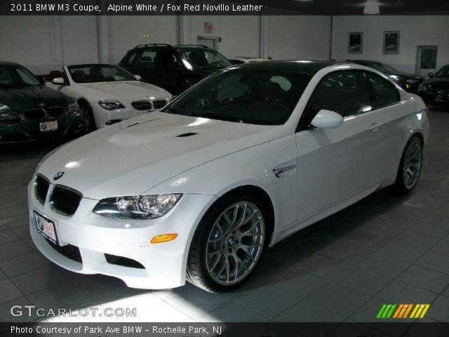 Alpine White - 2011 BMW M3 Coupe - Fox Red Novillo Leather ...  Alpine White - ...