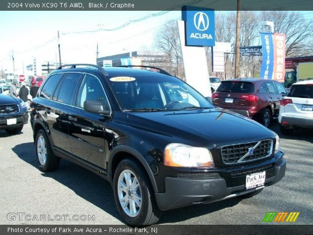 black 2004 volvo xc90 t6 awd graphite interior vehicle archive 45103214. Black Bedroom Furniture Sets. Home Design Ideas
