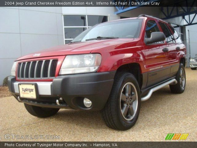 inferno red pearl 2004 jeep grand cherokee freedom edition 4x4 dark slate gray interior. Black Bedroom Furniture Sets. Home Design Ideas