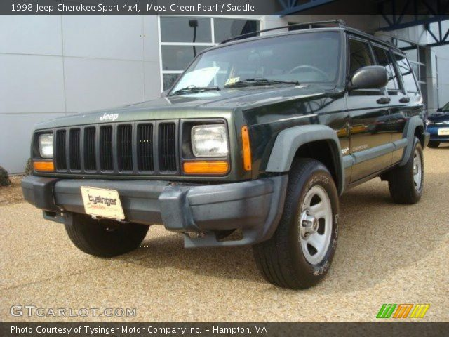 1998 jeep cherokee sport 4x4 in moss green pearl click to see large. Cars Review. Best American Auto & Cars Review