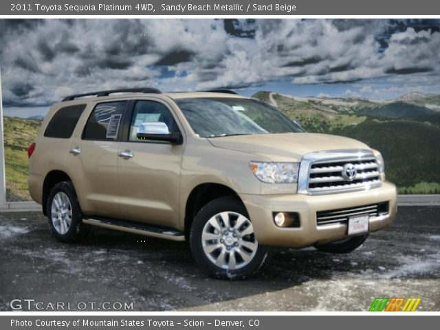 sandy beach metallic 2011 toyota sequoia platinum 4wd. Black Bedroom Furniture Sets. Home Design Ideas