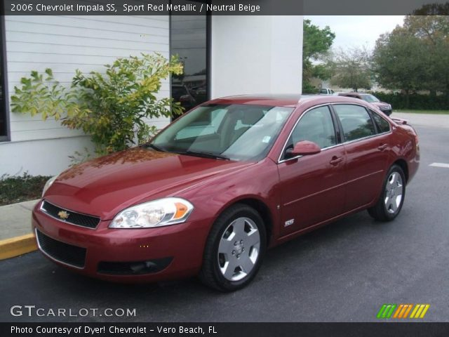sport red metallic 2006 chevrolet impala ss neutral beige interior vehicle. Black Bedroom Furniture Sets. Home Design Ideas