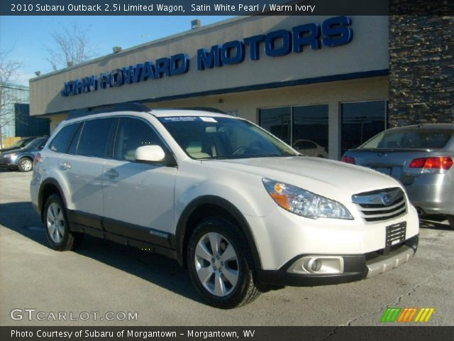 satin white pearl 2010 subaru outback limited wagon. Black Bedroom Furniture Sets. Home Design Ideas