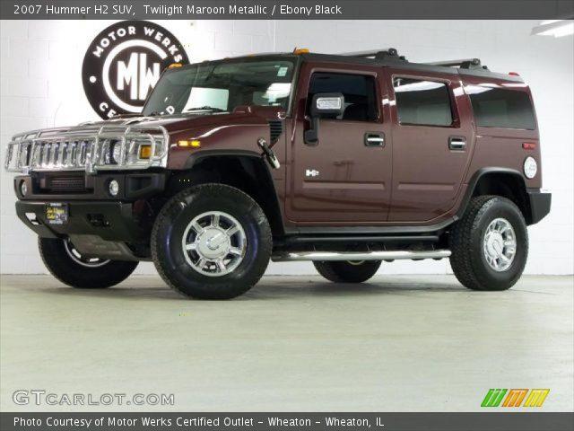 2007 Hummer H2 SUV in Twilight Maroon Metallic
