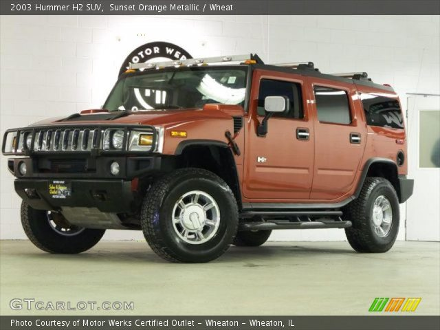 2003 Hummer H2 SUV in Sunset Orange Metallic