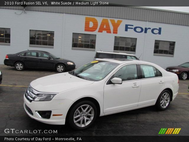 2010 Ford Fusion SEL V6 in White Suede