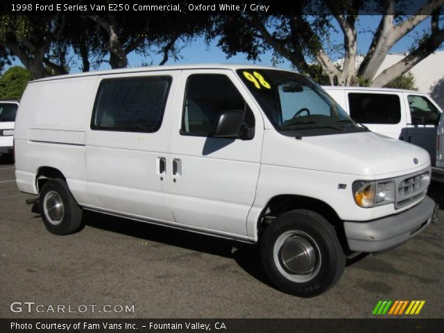 oxford white 1998 ford e series van e250 commercial grey interior vehicle. Black Bedroom Furniture Sets. Home Design Ideas