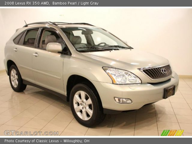 bamboo pearl 2008 lexus rx 350 awd light gray interior vehicle archive. Black Bedroom Furniture Sets. Home Design Ideas