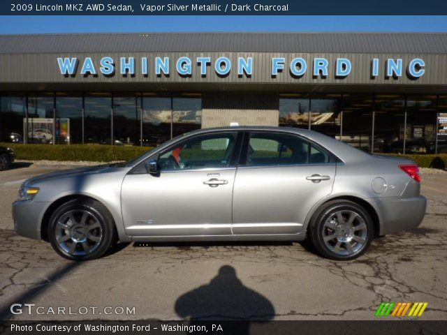 Vapor Silver Metallic 2009 Lincoln MKZ AWD Sedan with Dark Charcoal ...