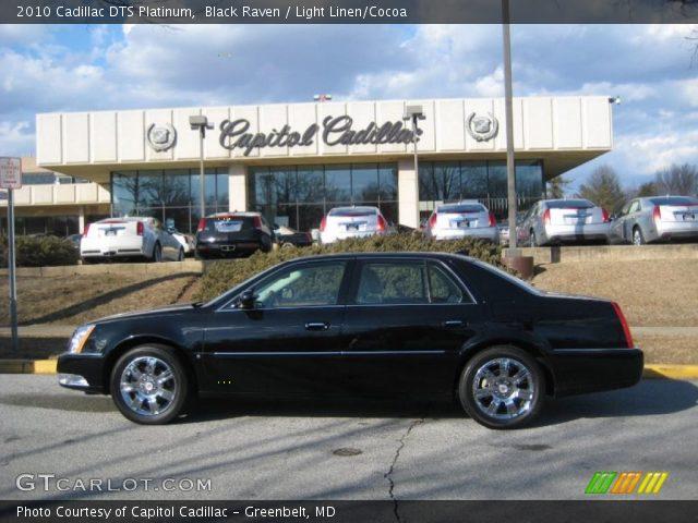 2010 Cadillac DTS Platinum in Black Raven