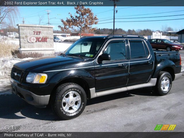 Black 2002 Ford Explorer Sport Trac 4x4 Dark Graphite Interior Vehicle