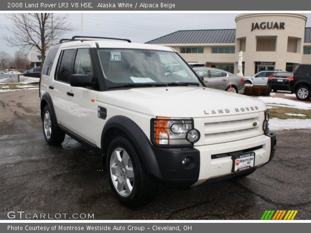 alaska white 2008 land rover lr3 v8 hse alpaca beige interior vehicle. Black Bedroom Furniture Sets. Home Design Ideas