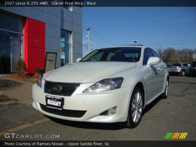 glacier frost mica 2007 lexus is 250 awd black interior vehicle archive. Black Bedroom Furniture Sets. Home Design Ideas