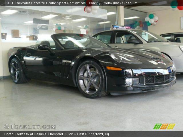 Black 2011 Chevrolet Corvette Grand Sport Convertible Ebony Black Titanium Interior