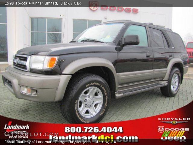 Black 1999 Toyota 4runner Limited Oak Interior Vehicle Archive 45449538