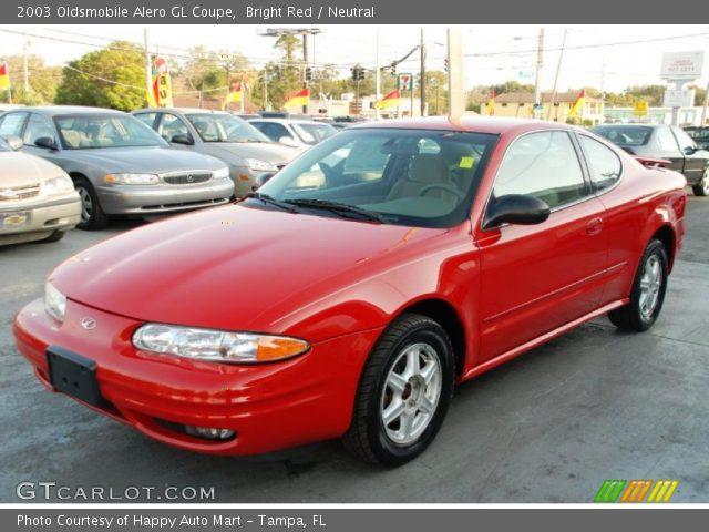 2003 Oldsmobile Alero GL Coupe in Bright Red