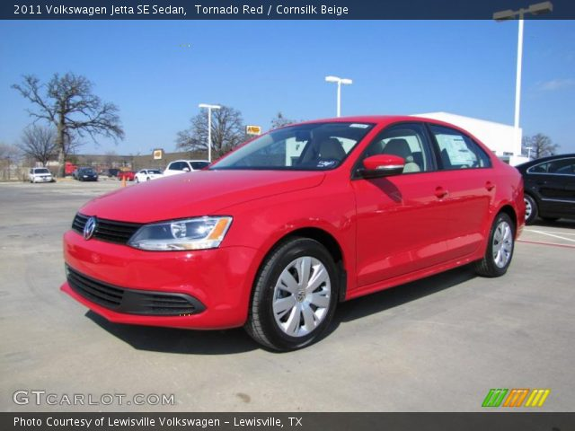 tornado red 2011 volkswagen jetta se sedan cornsilk. Black Bedroom Furniture Sets. Home Design Ideas