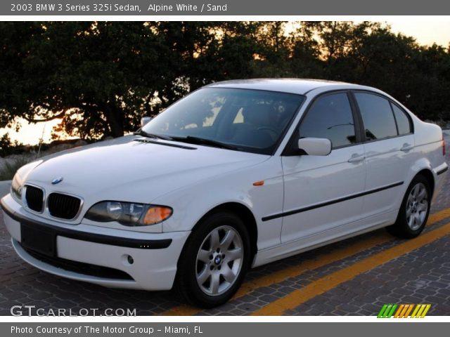 alpine white 2003 bmw 3 series 325i sedan sand interior vehicle archive. Black Bedroom Furniture Sets. Home Design Ideas