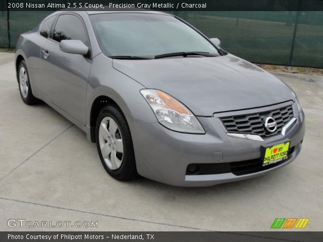 precision gray metallic 2008 nissan altima 2 5 s coupe charcoal interior. Black Bedroom Furniture Sets. Home Design Ideas