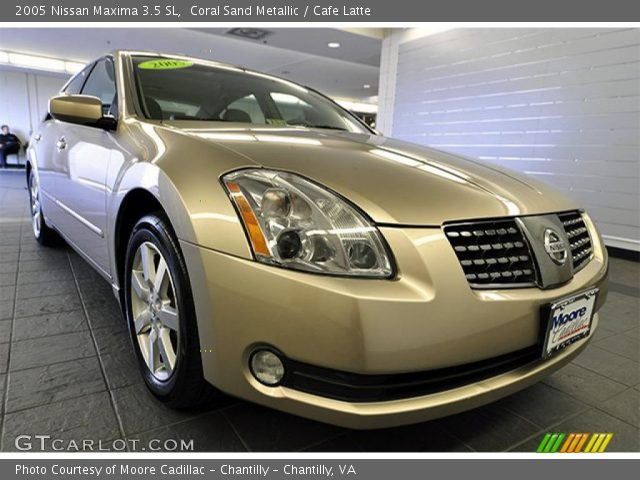 coral sand metallic 2005 nissan maxima 3 5 sl cafe. Black Bedroom Furniture Sets. Home Design Ideas