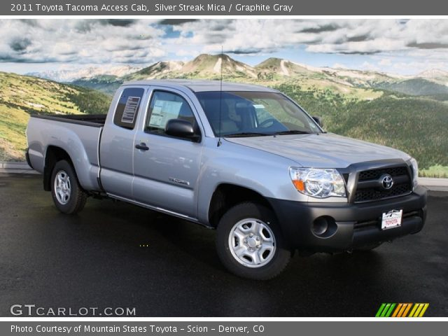 silver streak mica 2011 toyota tacoma access cab graphite gray interior. Black Bedroom Furniture Sets. Home Design Ideas