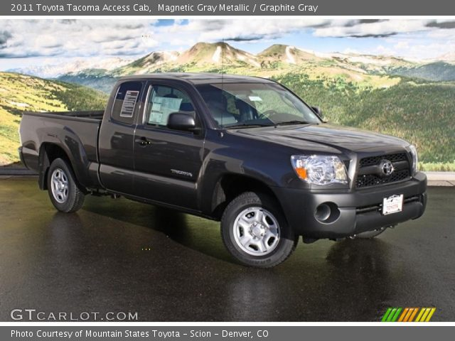 magnetic gray metallic 2011 toyota tacoma access cab graphite gray interior. Black Bedroom Furniture Sets. Home Design Ideas