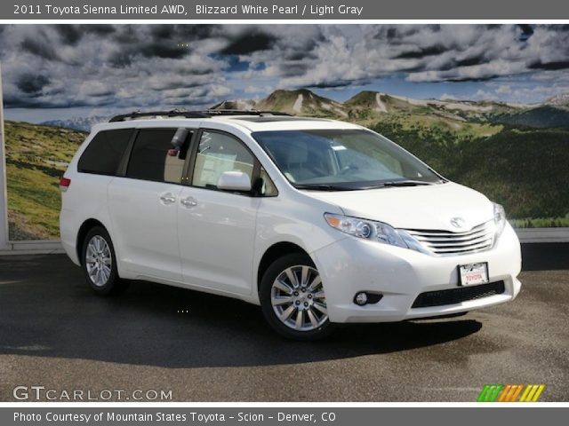 2011 Toyota Sienna Limited AWD in Blizzard White Pearl. Click to see ...