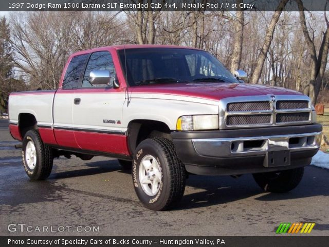 metallic red 1997 dodge ram 1500 laramie slt extended cab 4x4 mist gray interior gtcarlot. Black Bedroom Furniture Sets. Home Design Ideas
