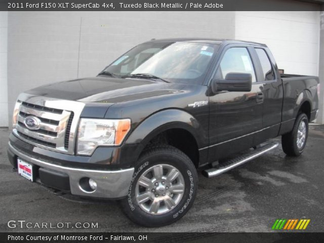 tuxedo black metallic 2011 ford f150 xlt supercab 4x4 pale adobe interior. Black Bedroom Furniture Sets. Home Design Ideas