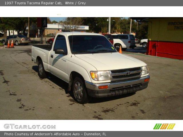 White 1997 toyota tacoma regular cab grey interior - 1997 toyota tacoma interior parts ...