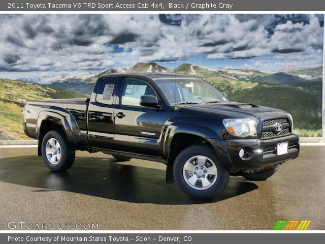 black 2011 toyota tacoma v6 trd sport access cab 4x4 graphite gray interior. Black Bedroom Furniture Sets. Home Design Ideas